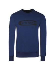 G-Star Mens Blue Graphic 18 Sweatshirt