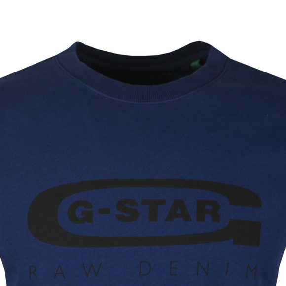 G-Star Mens Blue Graphic 18 Sweatshirt main image
