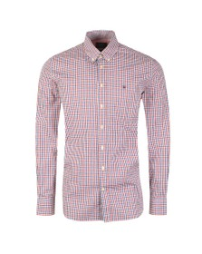Hackett Mens Multicoloured Tone Colour Check Shirt