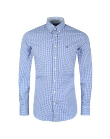 Hackett Mens Blue Mini Check Shirt