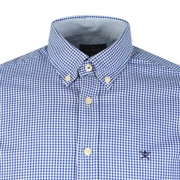 Hackett Mens Blue Mini Check Shirt main image