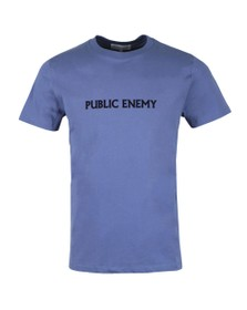 Maison Labiche Mens Blue Public Enemy T-Shirt
