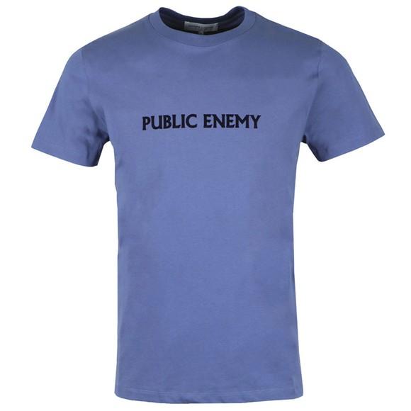 Maison Labiche Mens Blue Public Enemy T-Shirt