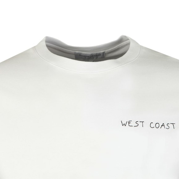Maison Labiche Mens White West Coast T-Shirt main image