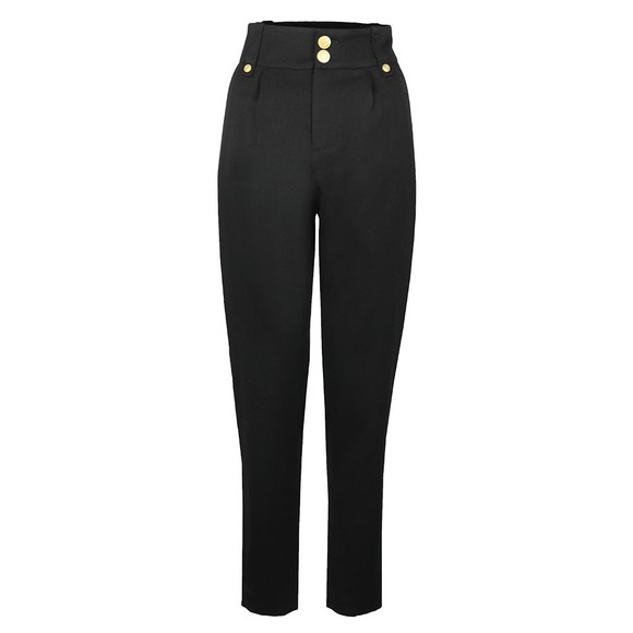 Holland Cooper Womens Black High Waisted Peg Trouser