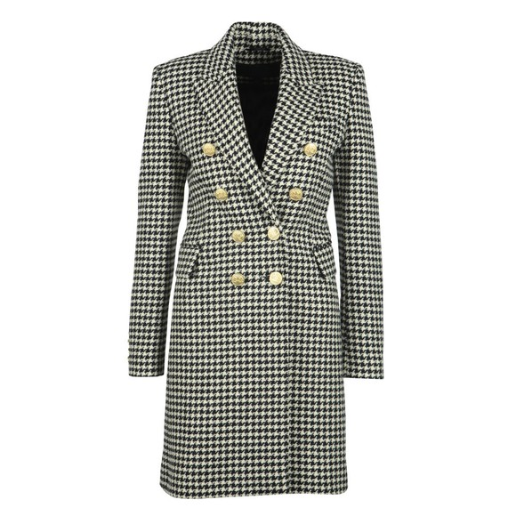 Holland Cooper Womens Houndstooth Knightsbridge Coat