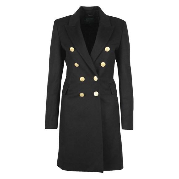 Holland Cooper Womens Black Knightsbridge Coat main image