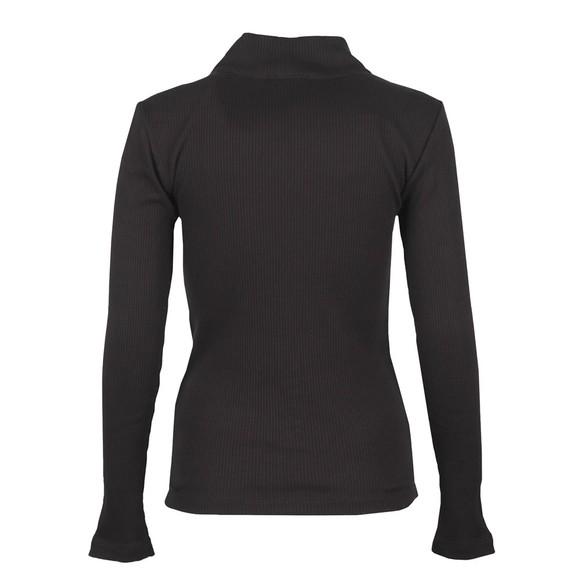 Champion Reverse Weave Womens Black Rib Turtle Neck Long Sleeve T Shirt main image
