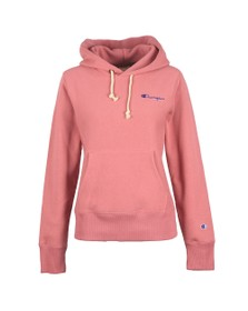 Champion Reverse Weave Womens Pink Small Script Logo Overhead Hoody