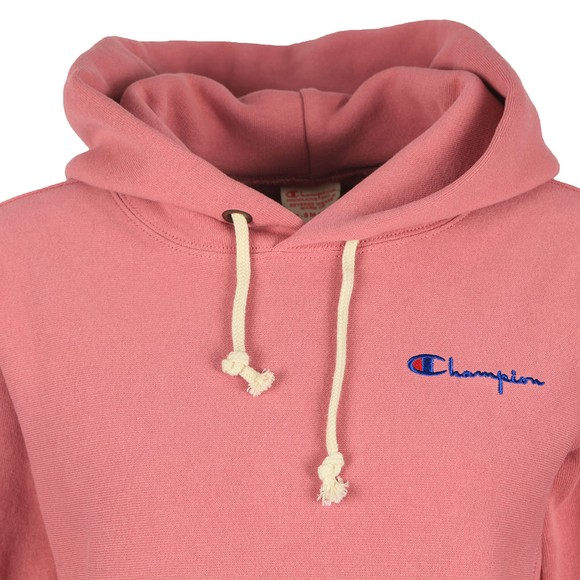 Champion Reverse Weave Womens Pink Small Script Logo Overhead Hoody main image