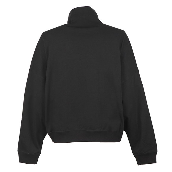 Champion Reverse Weave Womens Black Roll Neck Top