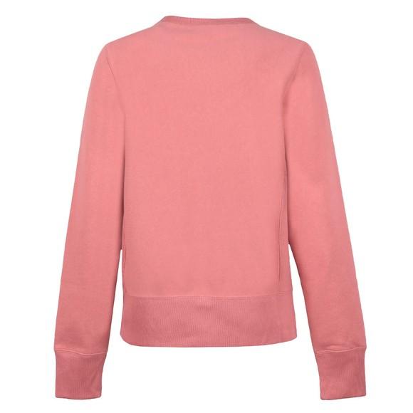 Champion Reverse Weave Womens Pink Large Script Logo Crew Sweatshirt main image