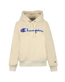 Champion Reverse Weave Womens Beige Fleece Overhead Hoody