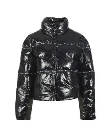 Champion Reverse Weave Womens Black Tape Shine Jacket