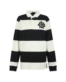 Polo Ralph Lauren Womens Black Monogram Rugby Polo Shirt