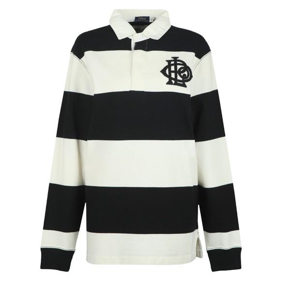 Polo Ralph Lauren Womens Black Monogram Rugby Polo Shirt