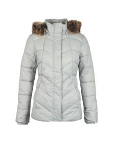 Barbour Lifestyle Womens White Downhall Quilted Jacket