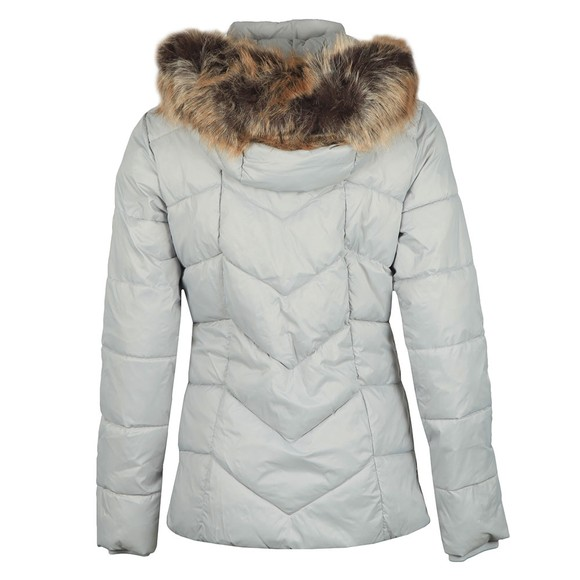 Barbour Lifestyle Womens White Downhall Quilted Jacket main image