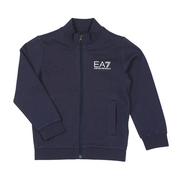 EA7 Emporio Armani Boys Blue Boys Full Zip Funnel Neck Tracksuit main image