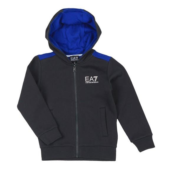 EA7 Emporio Armani Boys Blue Boys Shoulder Detail Tracksuit main image