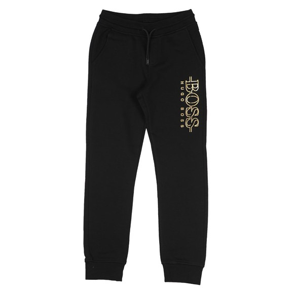 BOSS Boys Black Gold Logo Jogger main image