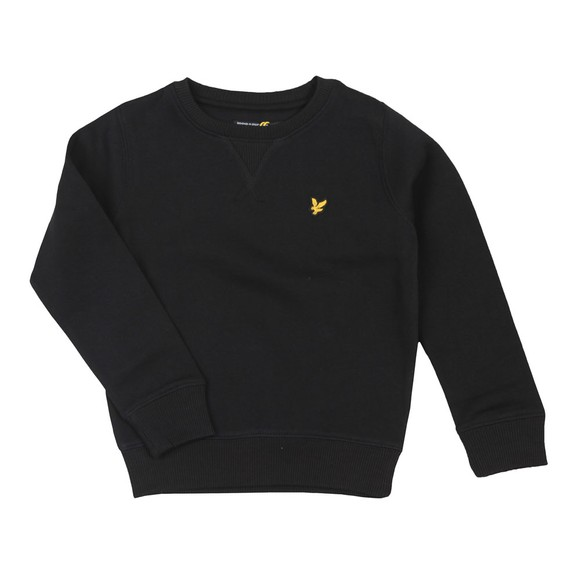 Lyle And Scott Junior Boys Black Classic Crew Sweatshirt