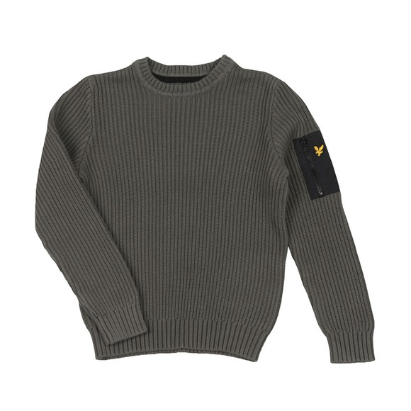 Lyle And Scott Junior Boys Grey Ribbed Knitted Jumper main image