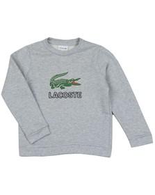 Lacoste Boys Grey SJ7622 Logo Sweatshirt