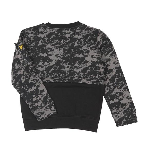 Lyle And Scott Junior Boys Black Camo Block Crew Sweatshirt