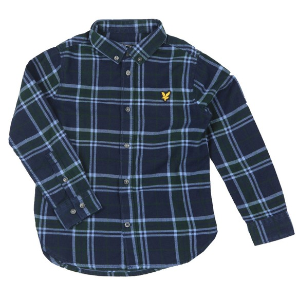 Lyle And Scott Junior Boys Green Check Flannel Shirt
