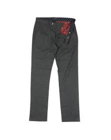 Ted Baker Mens Grey Sybili Slim Checked Trouser