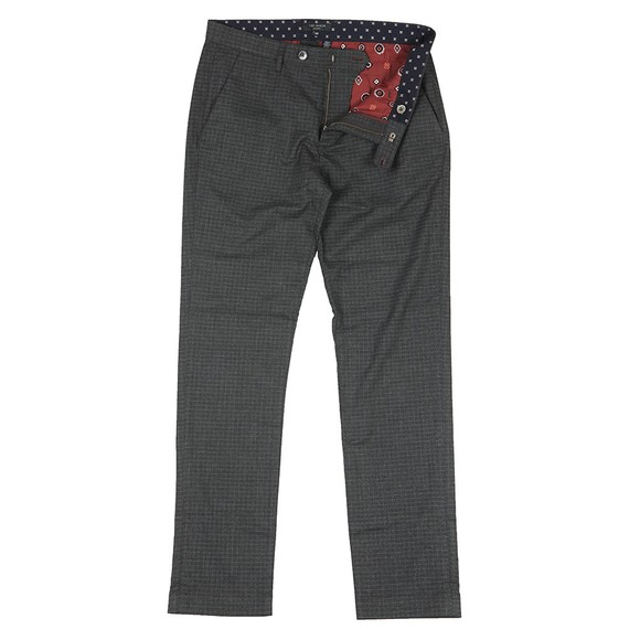 Ted Baker Mens Grey Sybili Slim Checked Trouser