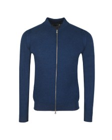 John Smedley Mens Blue 6 Singular Honeycomb Full Zip Jacket