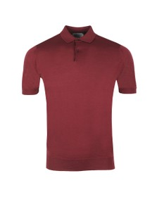 John Smedley Mens Purple Payton Polo Shirt