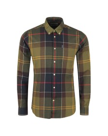Barbour Lifestyle Mens Green Tartan 5 Tailored Shirt