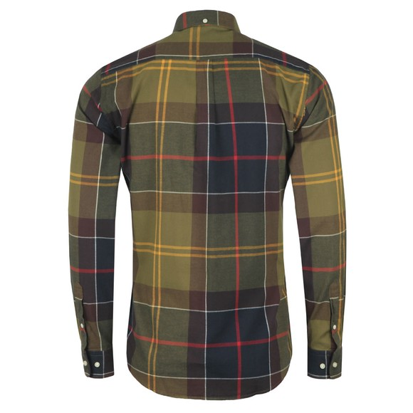 Barbour Lifestyle Mens Green Tartan 5 Tailored Shirt main image
