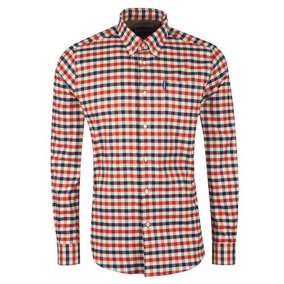 Barbour Lifestyle Mens Red Country Check 3 Shirt main image