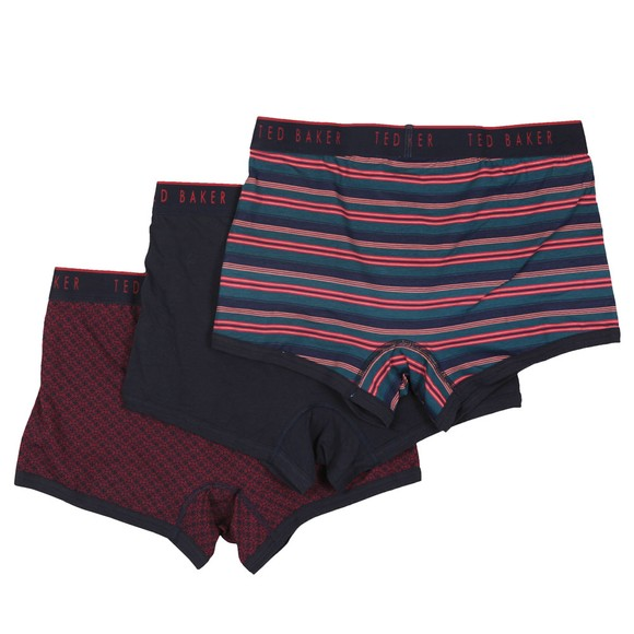 Ted Baker Mens Purple Assorted 3 Pack Boxers main image