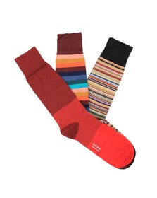 PS Paul Smith Mens Blue 3 Pack Mixed Socks