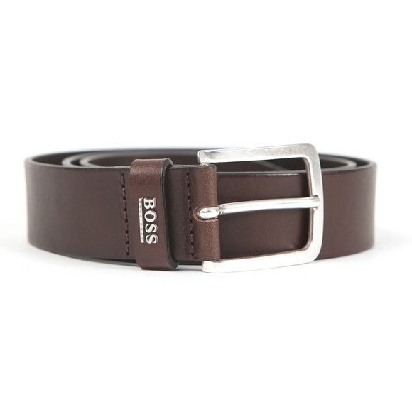 BOSS Mens Brown Jor Logo Belt