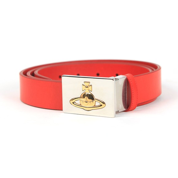 Vivienne Westwood Mens Red Square Buckle Belt