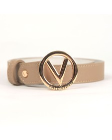 Valentino by Mario Womens Beige Round Belt