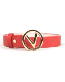 Valentino by Mario Womens Red Round Belt