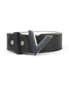 Valentino by Mario Womens Black Forever Belt