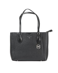 Michael Kors Womens Black Mae Mid Tote