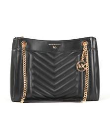 Michael Kors Womens Black Susan Bag