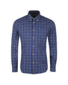 Barbour Lifestyle Mens Blue Tattersall 7 Shirt
