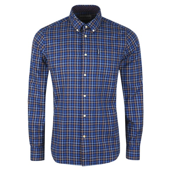 Barbour Lifestyle Mens Blue Tattersall 7 Shirt main image