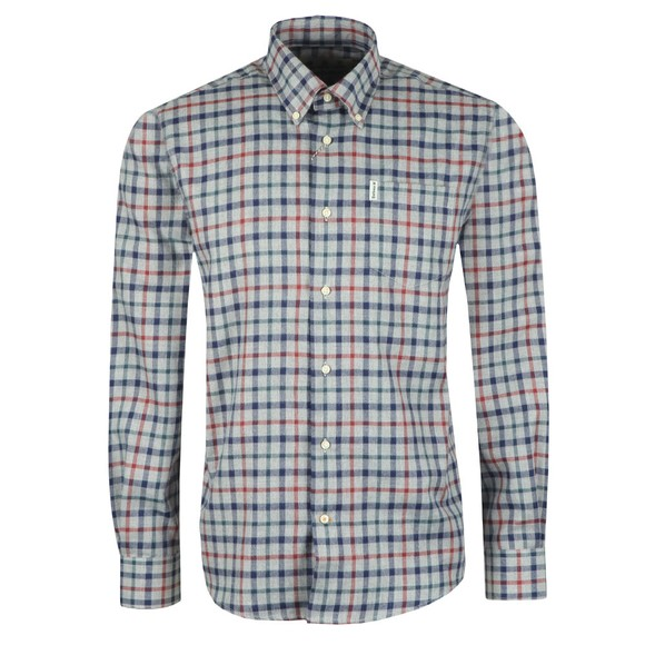 Barbour Lifestyle Mens Grey Thermo-Tech Coll Shirt main image