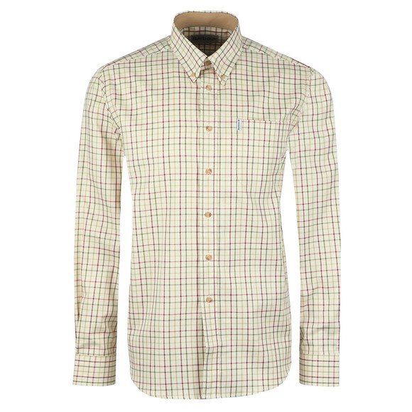 Barbour Lifestyle Mens Red Tattersall Shirt